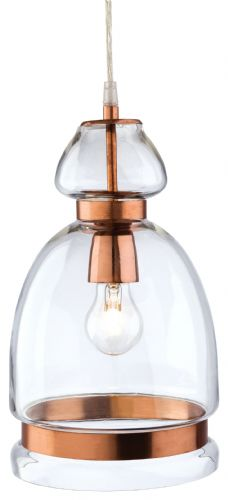 Firstlight 2349CP Clear Glass with Copper Craft Pendant